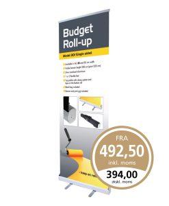 Prisbillig roll-up fra Guldtryk Reklame til ethvert budget.