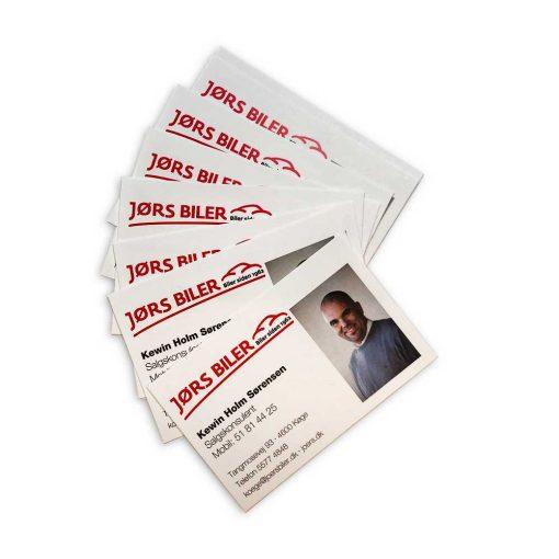 Se priser på tryk af visitkort