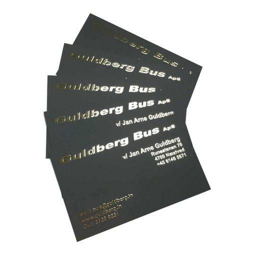 Tryk af Visitkort med guld