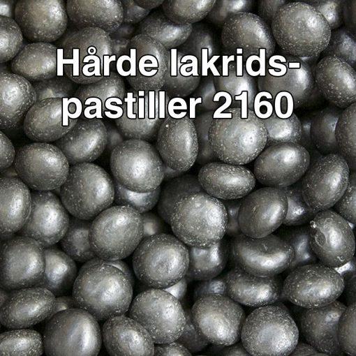 Hårde lakridspastiller 2160
