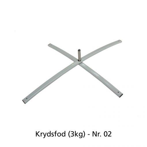 Beachflag - Krydsfod (3kg)
