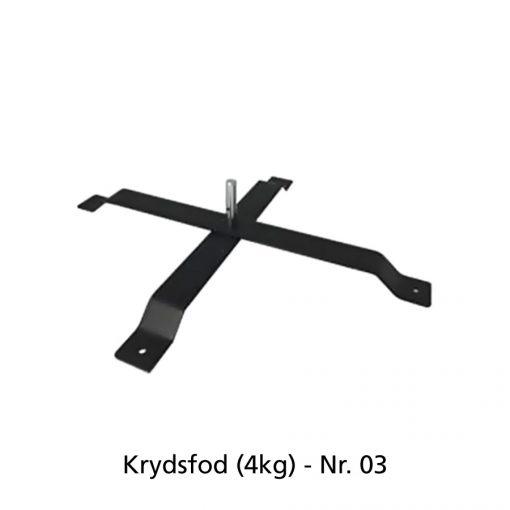 Beachflag - Krydsfod (4kg)