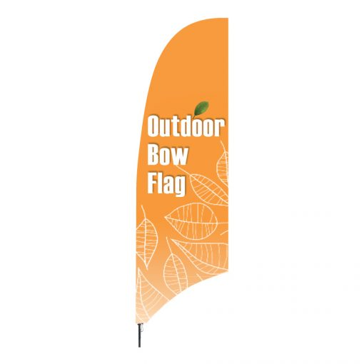 Beachflag i buet facon