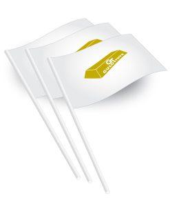 Papirflag med logo Reklame eller slogan, Papirflag