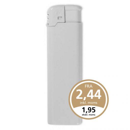 Hvid FC Elektron lighter med tryk af 1 eller 2 trykfarver på enten en eller begge sider af lighteren