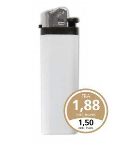 Hvid FC M3L lighter med tryk på en eller begge sider