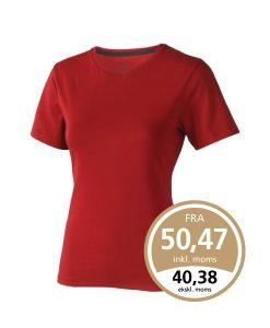 Rød Nanaimo t-shirt som leveres med 1 eller 2 farvet True Edge transfer.