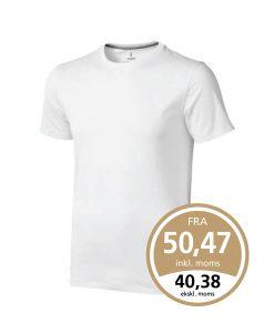Hvid Nanaimo t-shirt som leveres med 1 eller 2 farvet True Edge transfer.