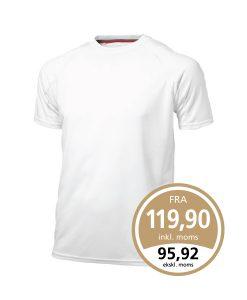 Slazenger Curve t-shirt i hvid som leveres med 1 eller 2 farvet True Edge transfer.