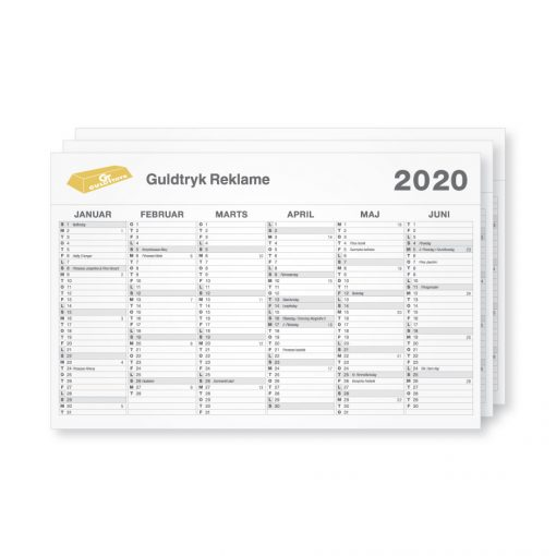 Tryk af A3 og A4 kalender 2020