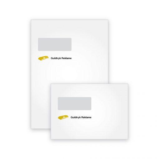 Kuverter med tryk