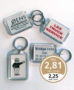 Nøglering med logo akryl nøglevedhæng 720