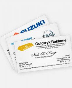 Tryk af visitkort eller print af visitkort