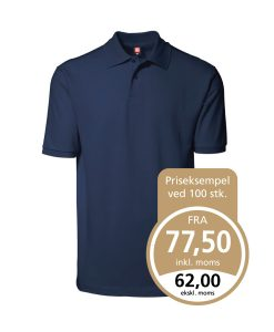 Yes ID Polo-shirt Nr 2020 i piquékvalitet,YES poloshirt navy