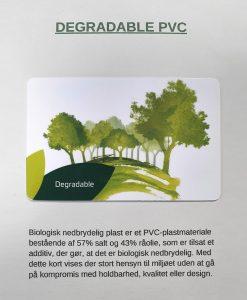 Biologisk nedbrydelig PVC kort